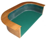 Curved-Wall Craps Practice Table